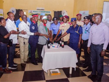 Dignitaries assisted the Publisher Samuel Oloyede Oriowo to cut his 2019 Birthday Cake