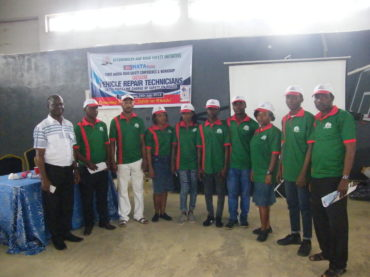 Officials of Automobile And Road Safety Initiative; who are also NATA News Crew (Organizers of the Event)