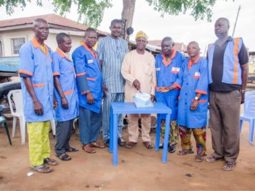 NATA Ondo West&East Officials hosting the Publiser Samuel O. Oriowo to a Birthday Party in Ondo town (May 2019)