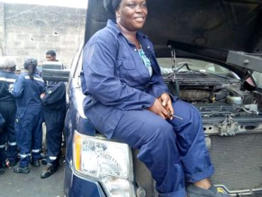 """I developed passion for the job, doing what men are doing""…Says Warri, Delta State based Lady Mechanic"