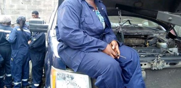 """""""I developed passion for the job, doing what men are doing""""…Says Warri, Delta State based Lady Mechanic"""